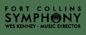 Fort Collins Symphony (FCS) logo