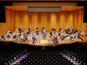 Orchestra full distance seating covid-19