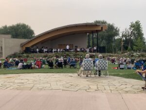 The Fort Collins Symphony performing at the Gardens at Spring Creek in August 2020.