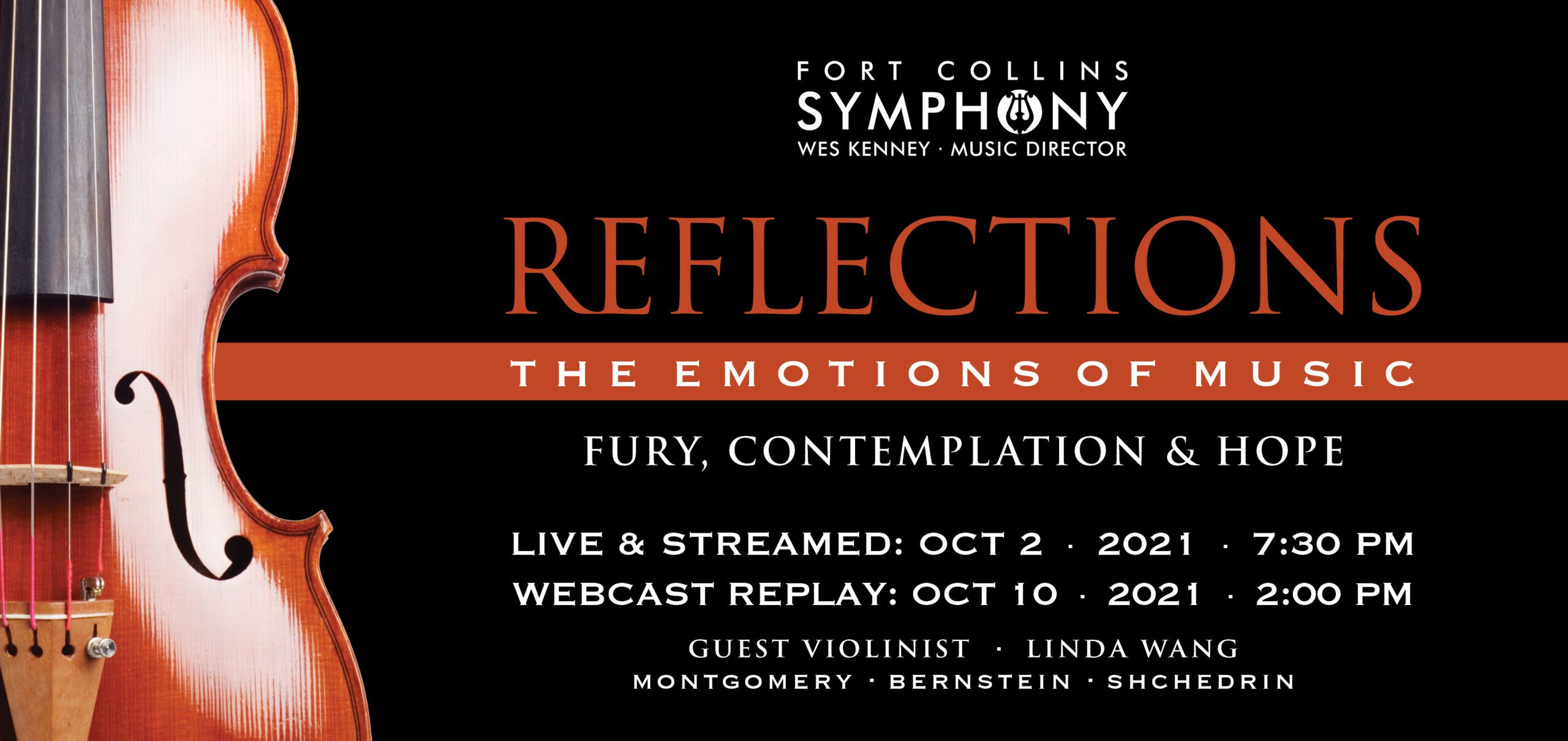 Reflections Signature Concert 1 Banner with violin